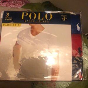 3 cotton v necks by polo
